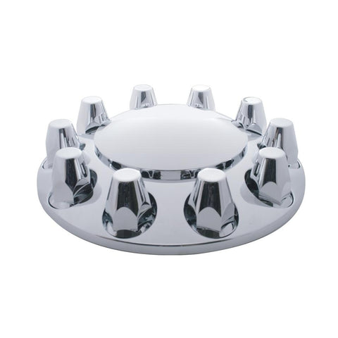 Chrome Dome Front Axle Cover W/ 33mm Nut Cover - Thread-On