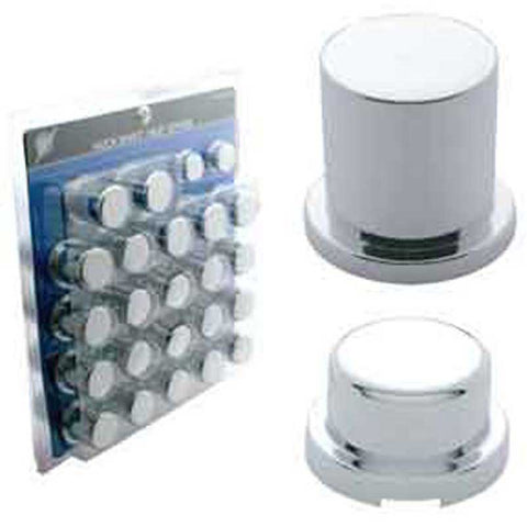Chrome Plastic Huck Rivet / Nut Cover Set