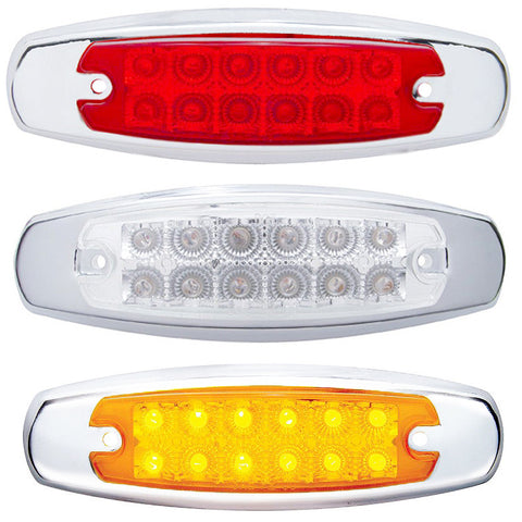12 LED Reflector Rectangular Clearance/Marker Light