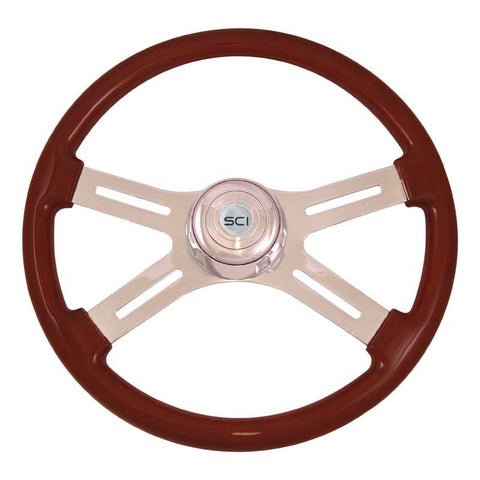 Steering Wheel Classic 4 Spoke Mahogany