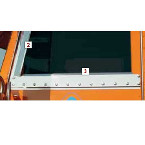Peterbilt Under Window Trim for Straight or Sloped Door