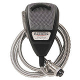 Astatic - 636LSE Noise Canceling 4-Pin CB Microphone, Silver Edition