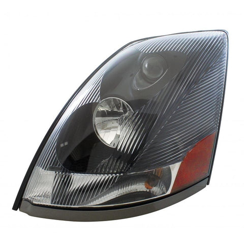 2004+ Volvo VN Replacement Headlights in Black or Chrome