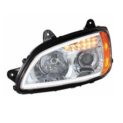 Projection Headlight w/LED Turn Signal and Light Bar For T660