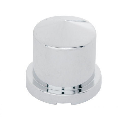 "Chrome Plastic Pointed Push-On Nut Cover  11/16"" x 1 1/4"""