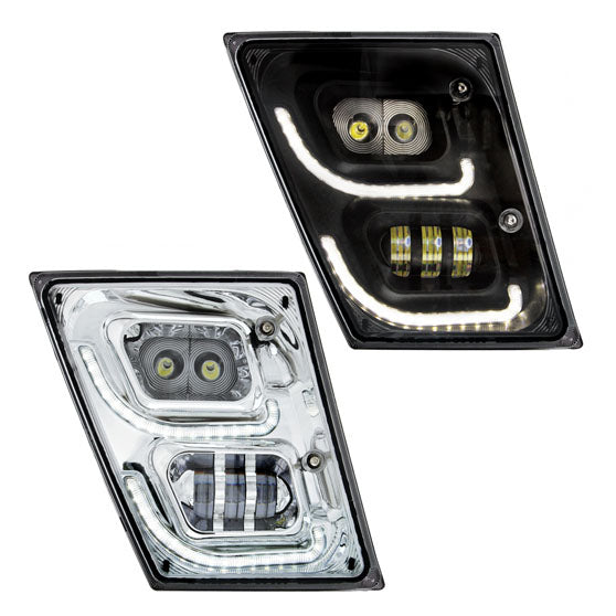 Volvo VN And VNL 2003 Through 2017 High Powered LED Fog Lights With LED Daytime Running Light And Position Light
