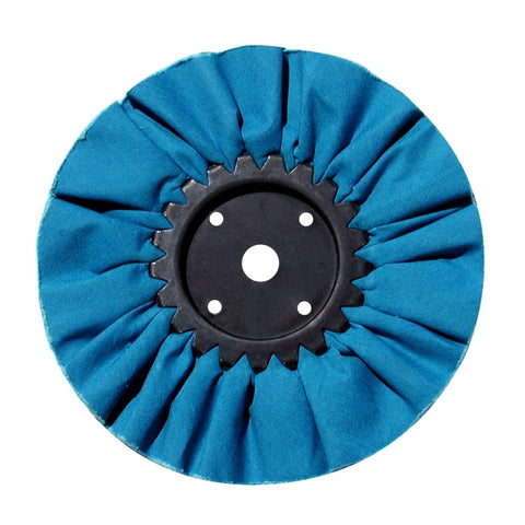 "8"" Blue Treated Airway Buff - 5/8"" & 1/2"" Arbor"