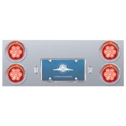 Stainless Rear Center Panel With 7 LED 4 Inch Reflector Lights