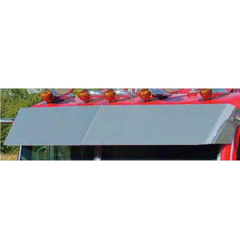 Peterbilt Multi-Fit Ultracab and Flat Top 14 Inch Blind Mount Visor - For Cab Mounted Mirrors