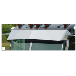 Peterbilt Multi-Fit Ultracab and Flat Top Blind Mount Visor - For Cab Mounted Mirrors
