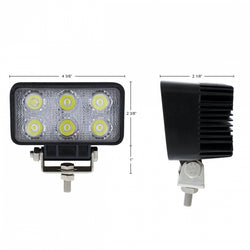 6 High Power LED Rectangular Driving/Work Light