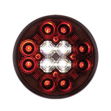 Round Combo Light with 12 LED 4 Inch Stop, Turn & Tail Light & 16 LED Back-Up Light