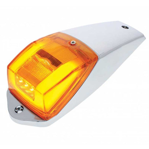 24 Amber LED Rectangular Cab Light Assembly w/Housing & GLO