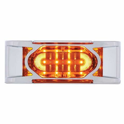 16 LED Reflector Clearance/Marker Light w/ Chrome Bezel