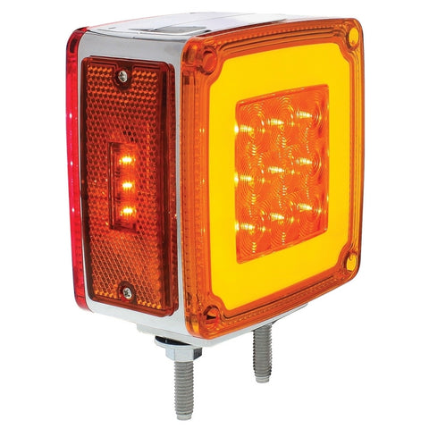 28 LED Square Double Face HALO Double Stud Signal Light