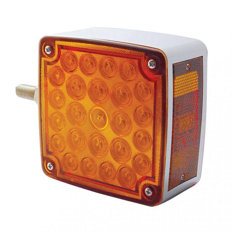 Side Mount 52 LED Double Face Turn Signal - Amber/Red Lens