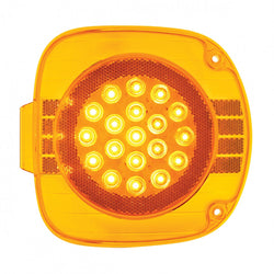 22 LED Freightliner Turn Signal - Amber LED/Amber Lens