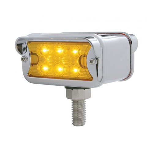 Dual Function Double Face Light - Amber & Red 6 LED