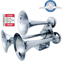 Chrome 3 Trumpet Train Horn