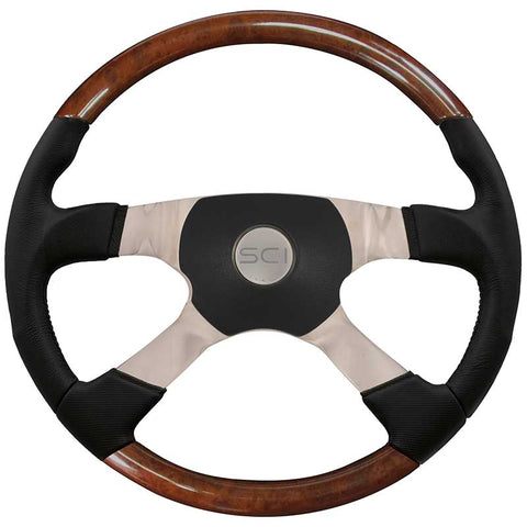 18 Inch Startruck Burl/Black Leather w/ Black Sport 4 Pad