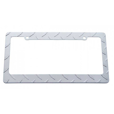 Chrome Die Cast Diamond License Plate Frame