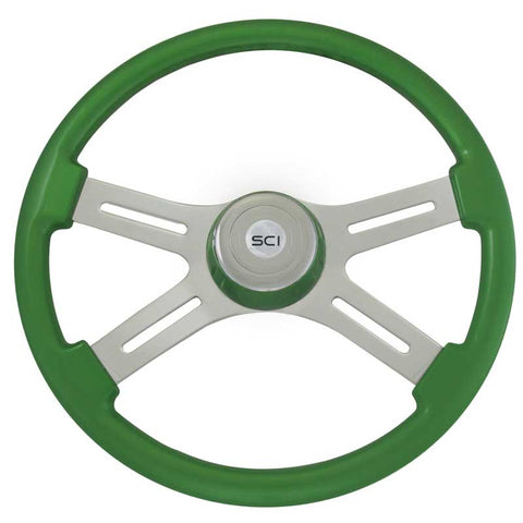 16 Inch Steering Wheel Classic 4 Spoke Green