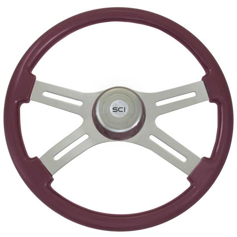 18 Inch Classic Purple Rim w/ Chrome 4 Spoke w/ Slot & Bezel