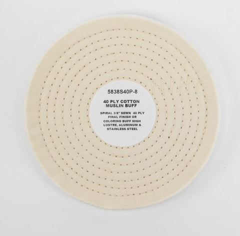 40 Ply White Cotton Muslin Buffing Wheel