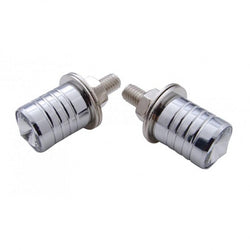 Chrome License Plate Fasteners With Diamond