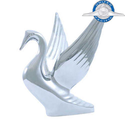 Chrome Small Swan Hood Ornament