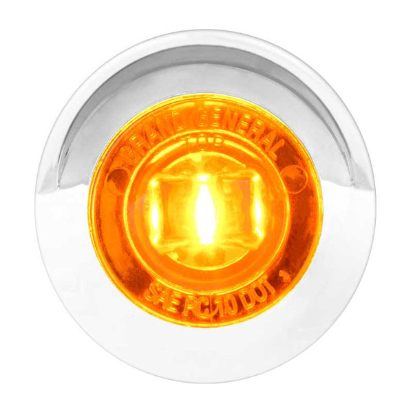 "1"" Single Function Mini Push/Screw-In LED w/ Bezel & Visor"