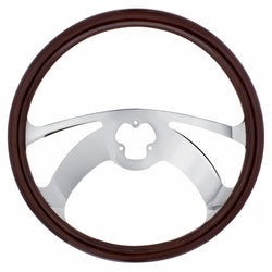 18 Inch Wood Steering Wheel - Scorpion