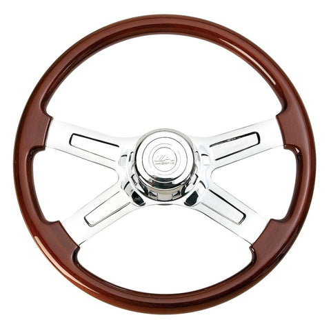 "18"" 4 Spoke Steering Wheel w/ Hub - Peterbilt 93-98, Kenworth 95-97"