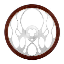 18 Inch Chromed Aluminum Steering Wheels With Wood Rim