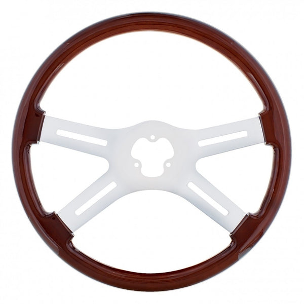 18 inch Chrome Steering Wheel - 4 Spoke