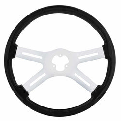 18 Inch Carbon Black Woodgrain Steering Wheel