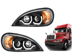 Freightliner Columbia Projection Headlight with LED Running Light