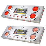 Stainless Rear Center Light Panel With 4 And 1 Inch Dual Function LEDs And Underglow