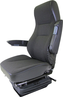 Knoedler Falcon Seat - High Back Adjustable Arms - Black Fabric