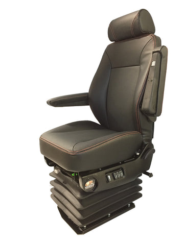 Knoedler Air Chief Wide Genuine Leader Seat - Heat and Massage - Dark Gray