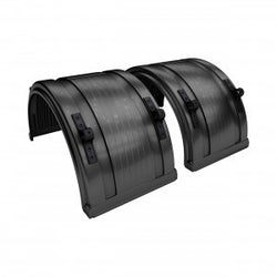Black - Full Round Single Axle Poly Fenders