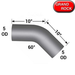 5 In Diameter 10 In Length 60 Degree Elbow Pipe