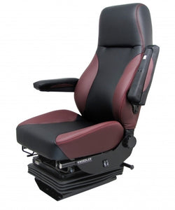 Knoedler Harrier Wide Synthetic Leader Seat - High Back Adjustable Arms - Two tone