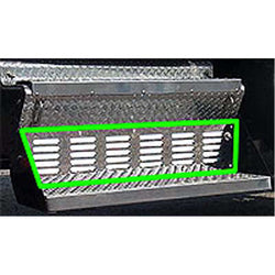Kenworth Louvered Battery and Tool Box Cover Trim 45 Inch