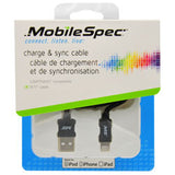 9 Ft 11 Inches Lightning® to USB Charge & Sync Cable, Black