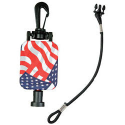 GearKeeper® Retractable Stars & Stripes CB MicKeeper®