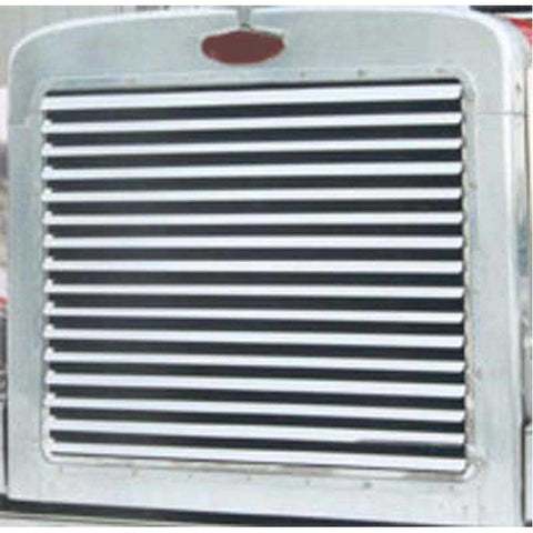 Peterbilt 379 Extended Hood Grill with 16 Louver Style Bars