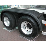 "133"" 3 Ribbed Black Poly Full Fender - Rolled Edge"