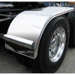 "60"" Stainless Steel Half Fender - Rolled Edge & Flange"