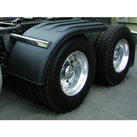 "66"" Black Polyethylene Half Fender - Rolled Edge"